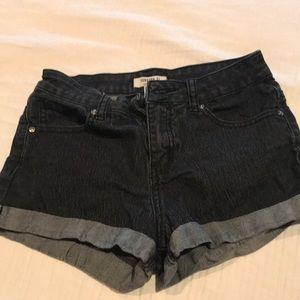 F21 Black Jean Shorts
